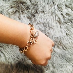 belove Jewelry - New 18K rose gold plated bronze bracelet